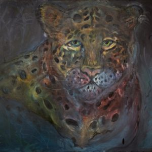 Leopard Oil on Canvas 100x79cm £500